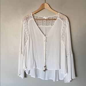 Band of Gypsies small white blouse with lace